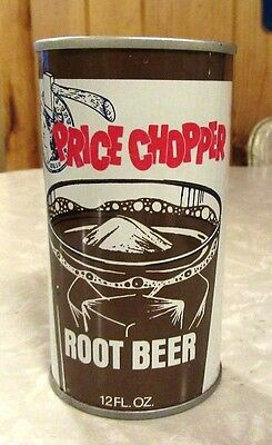 1976 Straight Steel Price Chopper Root Beer Soda Pull Tab Pop Can Bottom Open