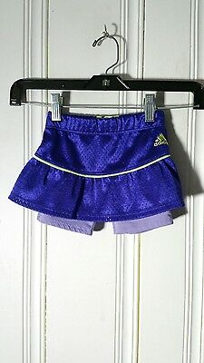 Adidas Girls Skirt With Shorts Purple Size 2T