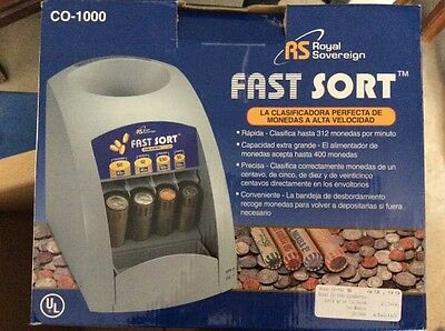 Royal Sovereign 'Fast Sort' Coin Sorter Machine