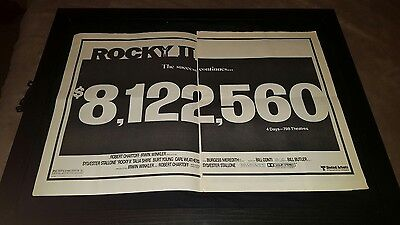 Rocky II Rare Original UA Box Office Promo Poster Ad Framed!