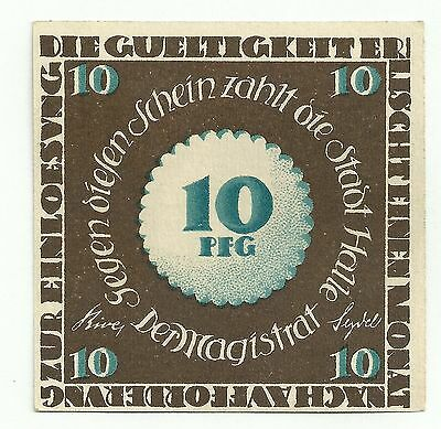Germany,HALLE Notgeld ND 10 Pfg. UNC A1A