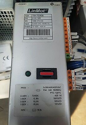 LinMot T01-72/240 3 phase rectifier transformer