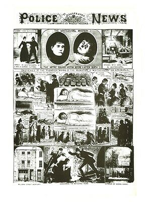 Antique Victorian Police News Newspaper Jack The Ripper 4 A3  Poster Reprint