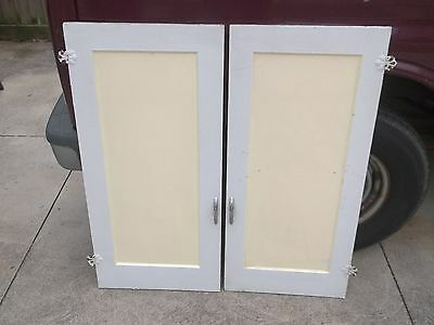 Pair Of Antq Pantry/cabinet Doors, Paneled. 1880. 20X 42