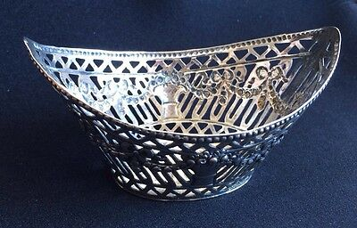 Antique Jugendstil Art Nouveau Pierced Silver Basket German Adolf Mayer 47.4g