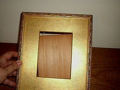 Vintage gold wood easel picture frame 9 by 10 inch,no glass