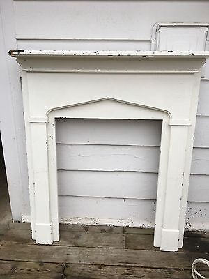 Antique Painted Pine Fireplace Mantle/Surround