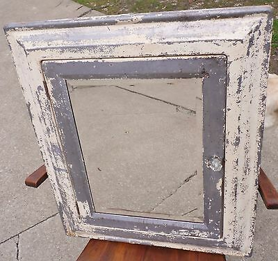 VTG Industrial Metal Recessed Medicine Cabinet Beveled Shabby Mirror Chic Old