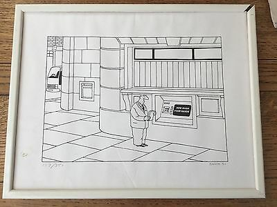 Punch Cartoonist Jeremy Banks ( Banx ) Cartoon Signed Print Limited Edition