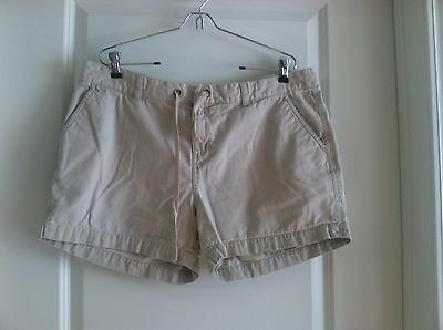 Motherhood brand Maternity ~ Tan cotton Shorts ~ L