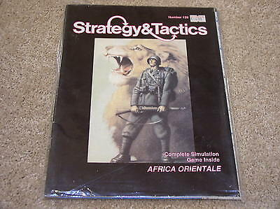 3W Strategy & Tactics #128 with wargame Africa Oriental - unpunched