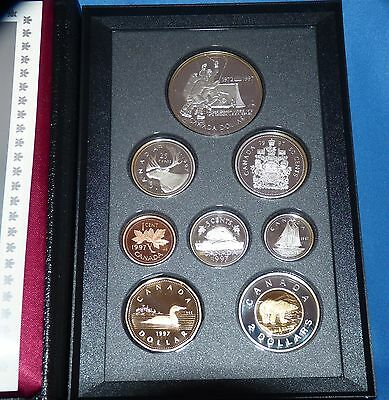 1997 Canada Proof Set with 6 Coins Containing Sterling Silver