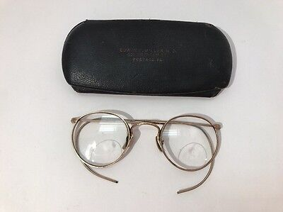 Art Craft Vintage Ful-Vue Eye Glasses 1/10 12K GF Gold Filled w/ Case Portage PA