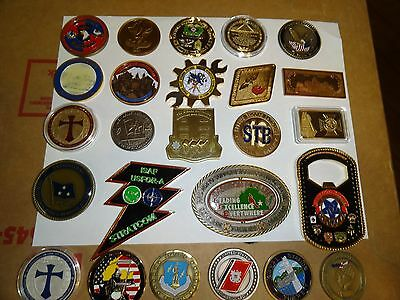 Challenge Coin Lot Set 25 Different 101St Airborne General Admiral Navy Canada P