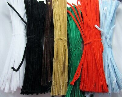 PIPE CLEANERS chenille sticks / stems pack of 20 CHOOSE COLOUR craft christmas