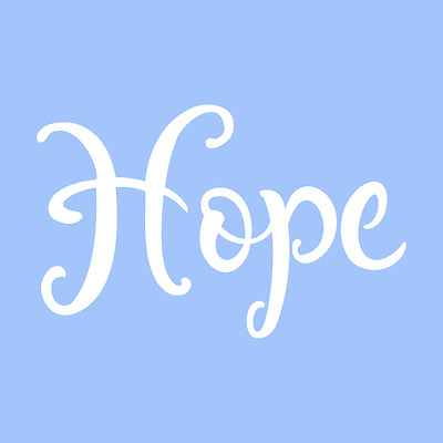 """4"""" Hope Stencil Word Color Template Paint Art Pattern Decor Letter Craft New"""