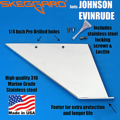 JOHNSON/EVINRUDE 90-100-115-120-140HP 2 STROKE Skeg Guard, Skeg Protector