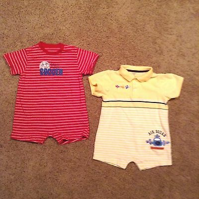 Carter's Toddler Boys Rompers  Lot of 2 Size 24 Months Ships free!