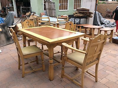 1930's Rancho Monterey Dining Table - 1 Family Owned - Stored For Over 50 Years