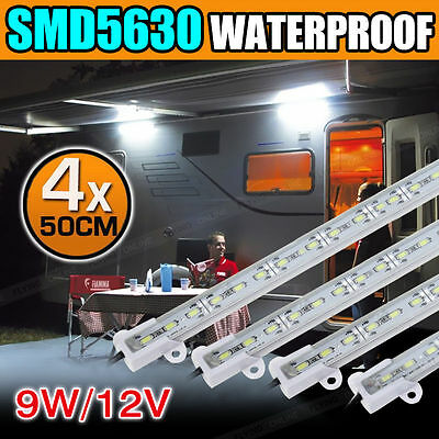 4X12V Waterproof Cool White 5630 Led Strip Lights Bars With Plastic Holder AU