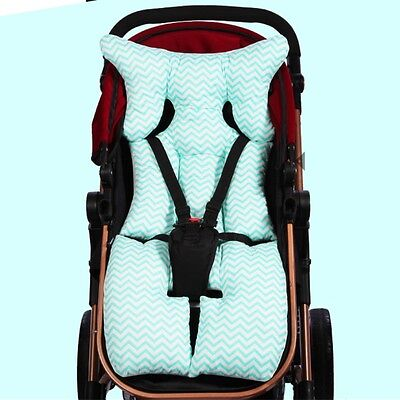 Reversible Kids Baby Infant Stroller Liner Mat Pad Cushion Head Rest 4 Seasons