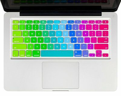 "Soft Silicone Rainbow Keyboard Cover for MacBook 11"" 12"" 13"" MacBook Pro A1708"