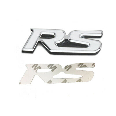 RS Logo Front Grille Car Emblem For Jaguar XK XF XJ XFR R Type Grill Car Badge