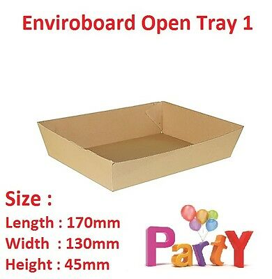 50x Cardboard Tray 1, 170x130x45mm, Enviroboard Disposable Food Chips