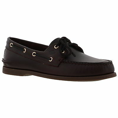 Sperry Top Sider A/O 2 Eye Brown Leather Mens Deck Boat Shoes Size UK 8-11