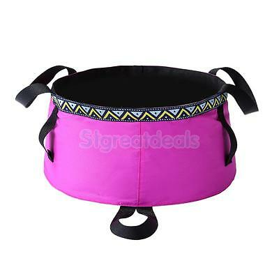 6L Foldable Folding Wash Basin Water Carry Bag Bucket Camping Hiking Travel