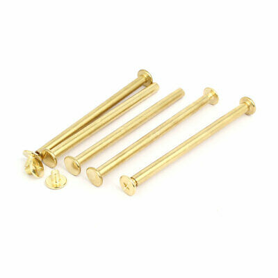 uxcell M5x60mm Binding Chicago Screw Post Gold Tone 15pcs for Photo Albums Scrapbook