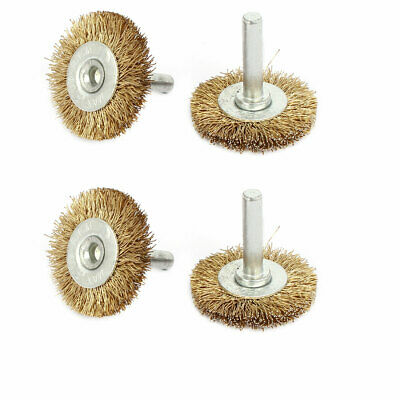 6mm Shank 40mm Dia T Shaped Steel Wire Polishing Brush for Rotary Tool 4pcs