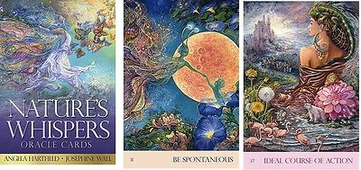 Nature's Whispers Oracle NEW 50 cards 72 page book A. Hartfield Josephine Wall