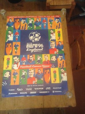 Uefa European Championships Euro 1996 England Official Venue Poster