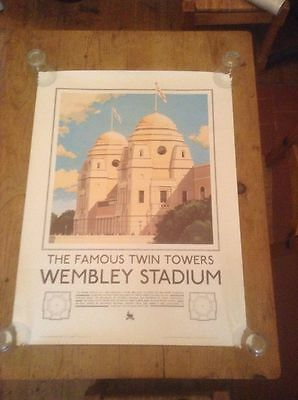 Wembley Stadium Official Last Year 2000 Original Large Poster With Orig Tube