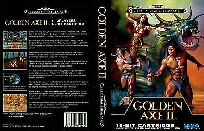Golden Axe 2 II Sega Mega Drive PAL Replacement Box Art Case Insert Cover Repro