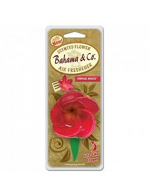 Bahama & Co Scented Flower Car Vent Air Freshener Tropical Breeze Scent 06752