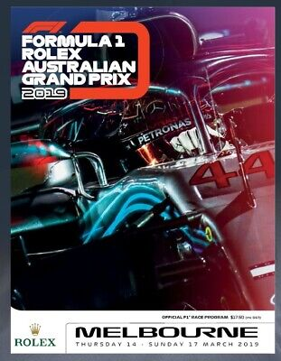 2019 FORMULA 1 One F1 AUSTRALIAN MELBOURNE GRAND PRIX OFFICIAL RACE PROGRAM