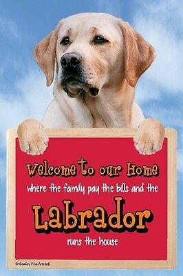 Labrador, Yellow, 3D Welcome Sign