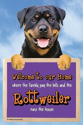 Rottweiler, 3D Welcome Sign