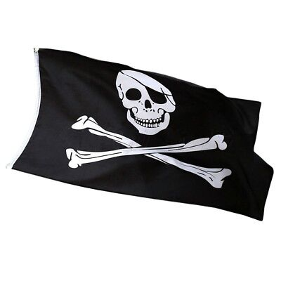 Jolly Roger Skull and Crossbones 5ft x 3ft Pirate Flag ideal for Climbing frame