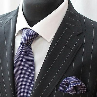 Tie Neck tie with Handkerchief Purple
