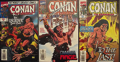 CONAN THE BARBARIAN: THE USURPER 1,2,3...NM-..1997...Steve Lieber...HTF Bargain!