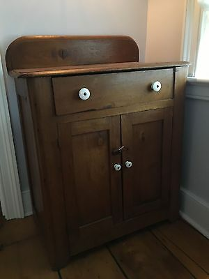Antique Country Small Cupboard/ Washstand, 1800's, Backsplash