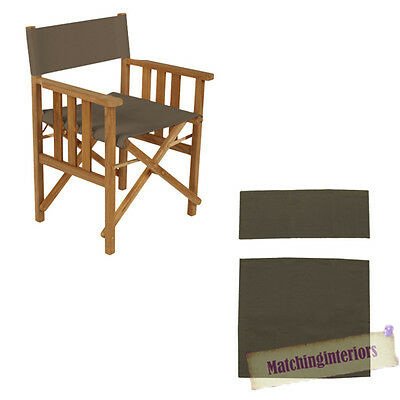 Grey Director Chairs Replacement Polyurethane Coated Canvas Covers Garden