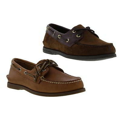 Sperry AO 2 Eye Mens Brown Leather Boat Deck Shoes Size UK 8-11