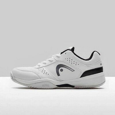 Head Lazer Junior Tennis All Court Shoes Trainers - White + Black