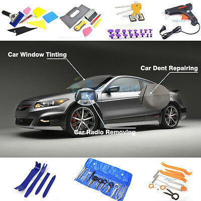 PDR Hail Car Dent Repairing Lifter Window Windshield Tinting Removal Tools Kits
