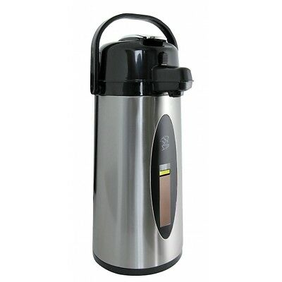 Newco Koffee Kup 2.2 Liter Airpot with Sight Guage, Stainless Steel (KKSG121282)