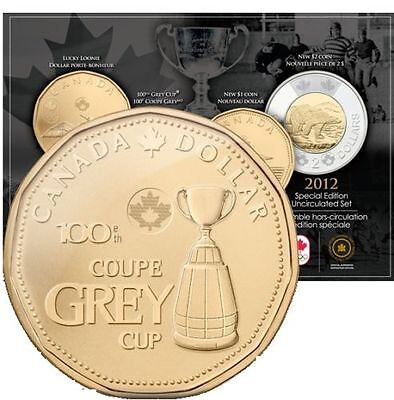 RARE - 2012 100th. Anniversary of the GREY CUP  COIN  SET - Royal Canadian Mint